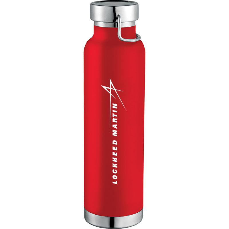 Copper Vacuum Insulated Bottle, 20 oz - Red
