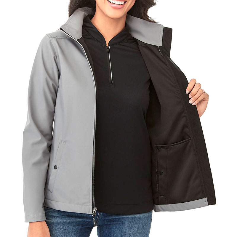 Ladies' Karmine Softshell Jacket - Gray 2