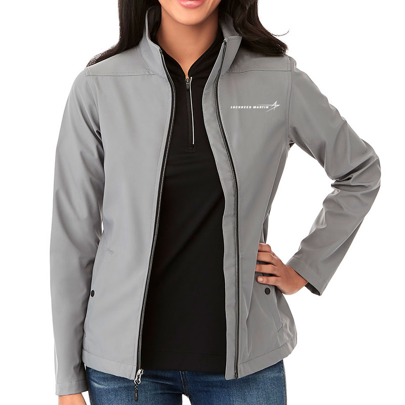 Ladies' Karmine Softshell Jacket - Gray Main