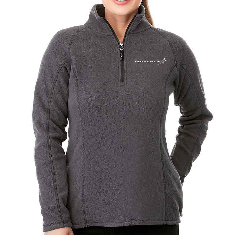 Ladies' Bowlen Pullover Fleece - Dark Gray Main