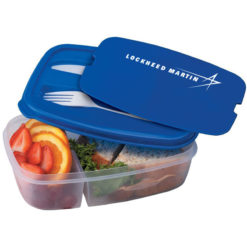 2-Section Lunch Container Open