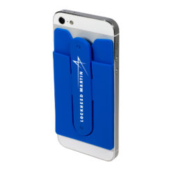 Quik-Snap Mobile Device Pocket / Stand - Blue