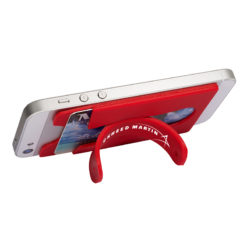 Quik-Snap Mobile Device Pocket / Stand - Red 2