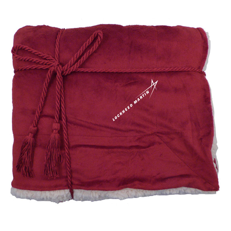 Plush-Microfleece-Throw---Wine