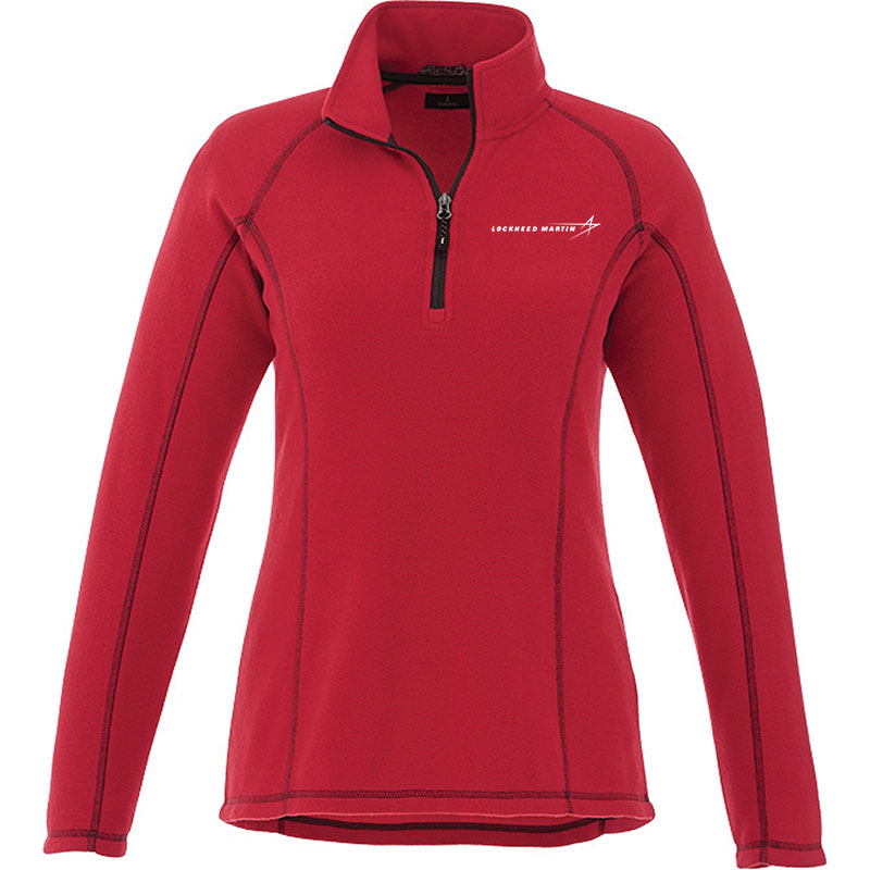 Ladies' Bowlen Pullover Fleece - Red