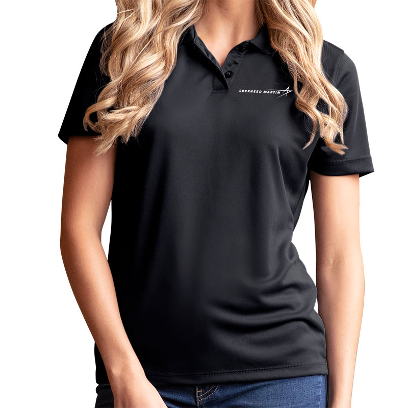 Ladies' Omega Mesh Tech Polo - Black