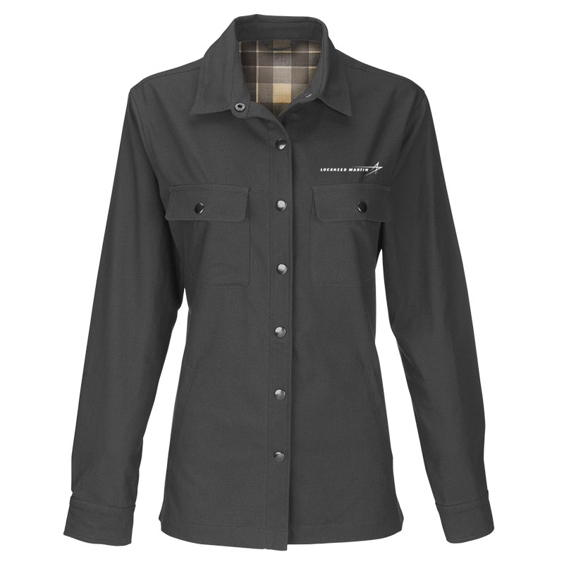 Ladies' Boulder Shirt Jacket - Dark Gray 2