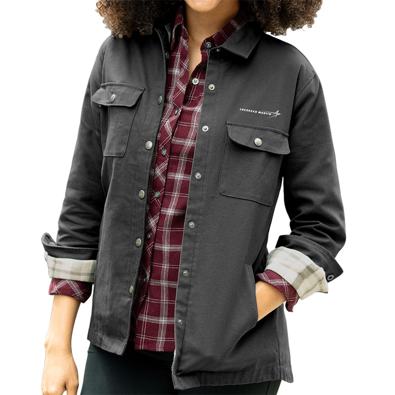 Ladies' Boulder Shirt Jacket - Dark Gray