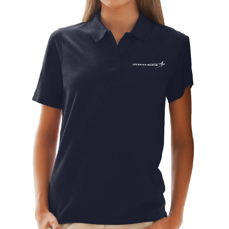 Ladies' Soft-Blend Pique Polo - Navy