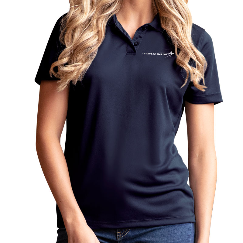 Ladies' Omega Mesh Tech Polo - Navy