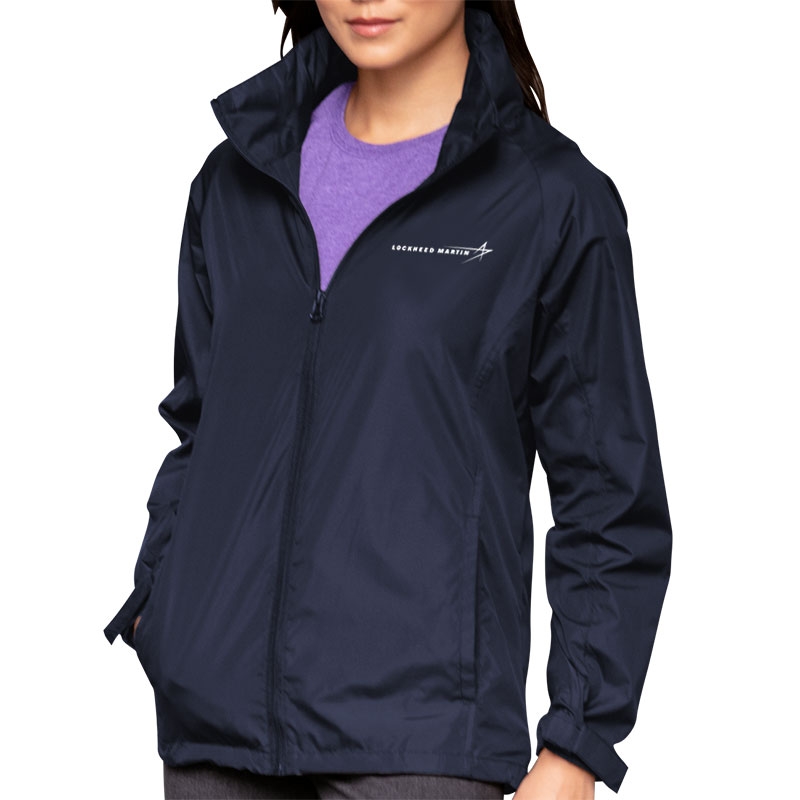 Ladies' Lightweight Hooded Jacket - Navy