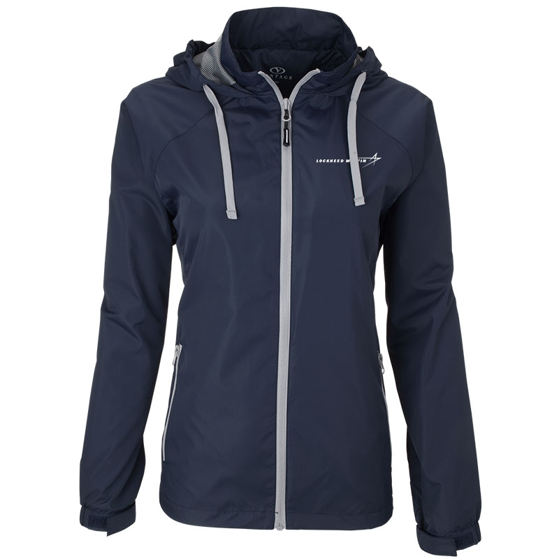Ladies' Club Jacket - Navy / Gray 2