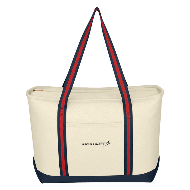 Admiral Canvas Tote - Natural / Navy