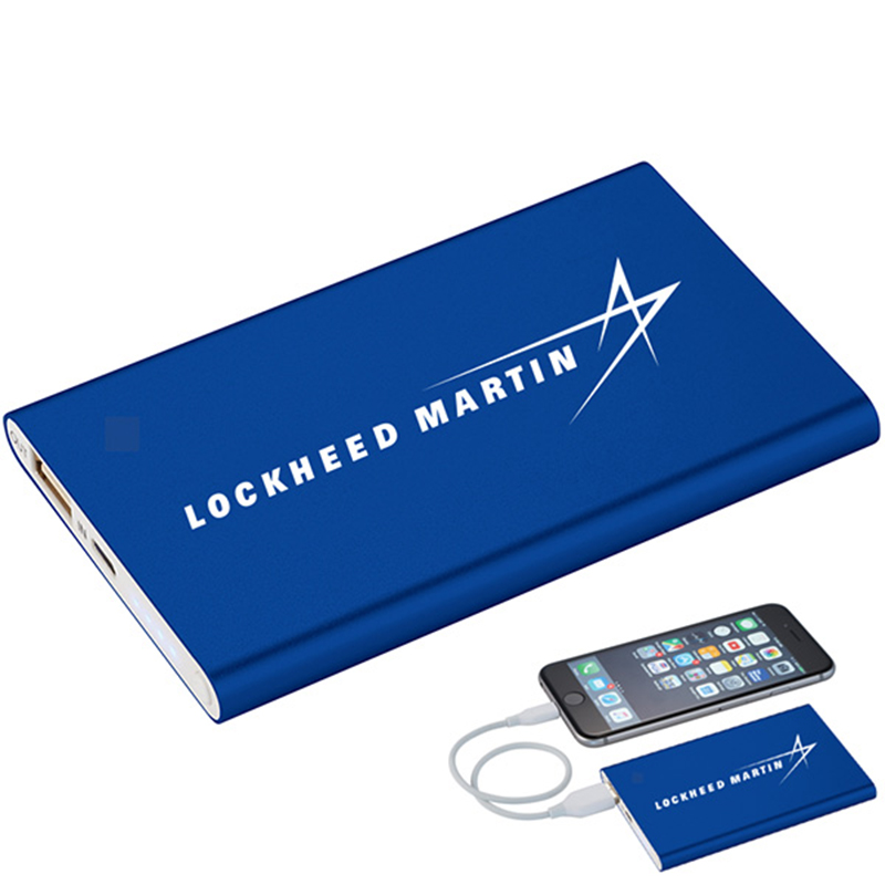 Pep Slim Power Bank - Royal - LM Logo