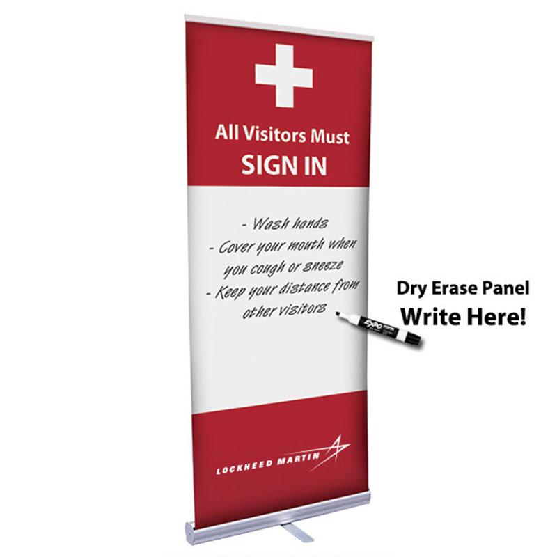 Retractor Banner w/ Dry Erase Panel