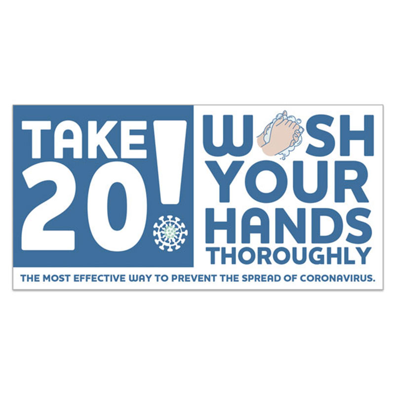 Take 20! Wash Your Hands Sign