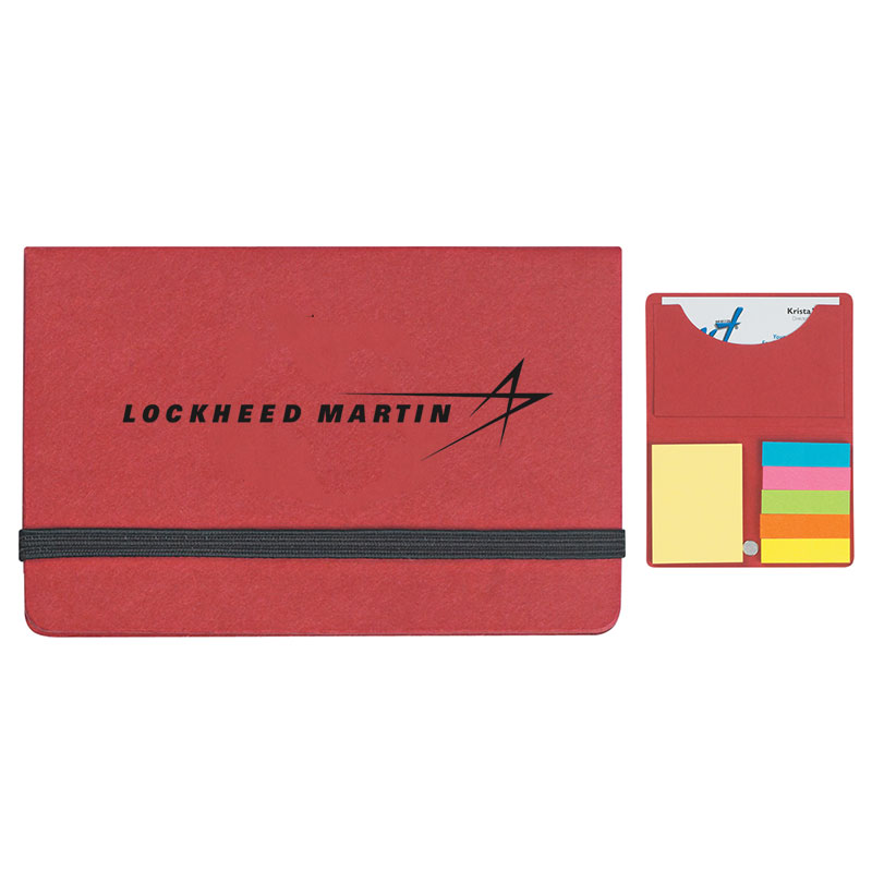 Business Card Sticky Pack - Red Main