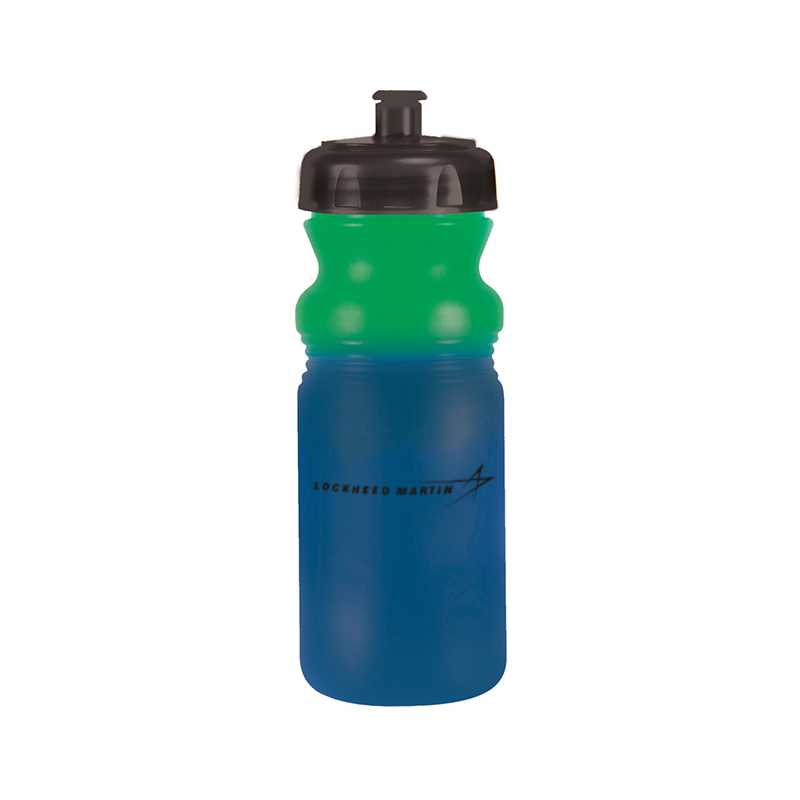 Color Changing Water Bottle, 20 oz - Green / Blue