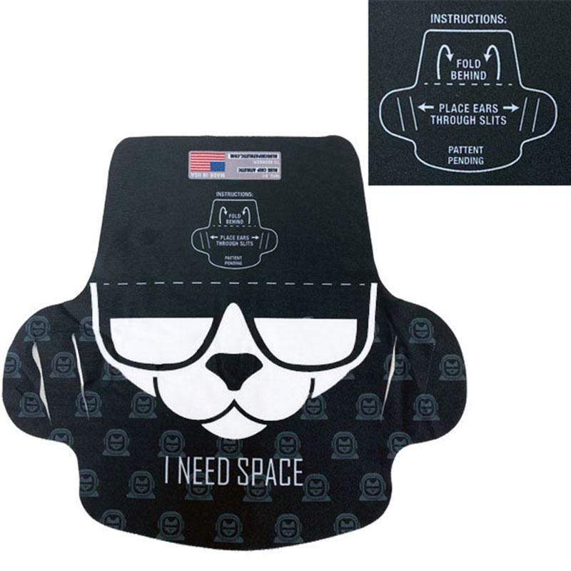Polyester Blend Face Mask Space Cat Design