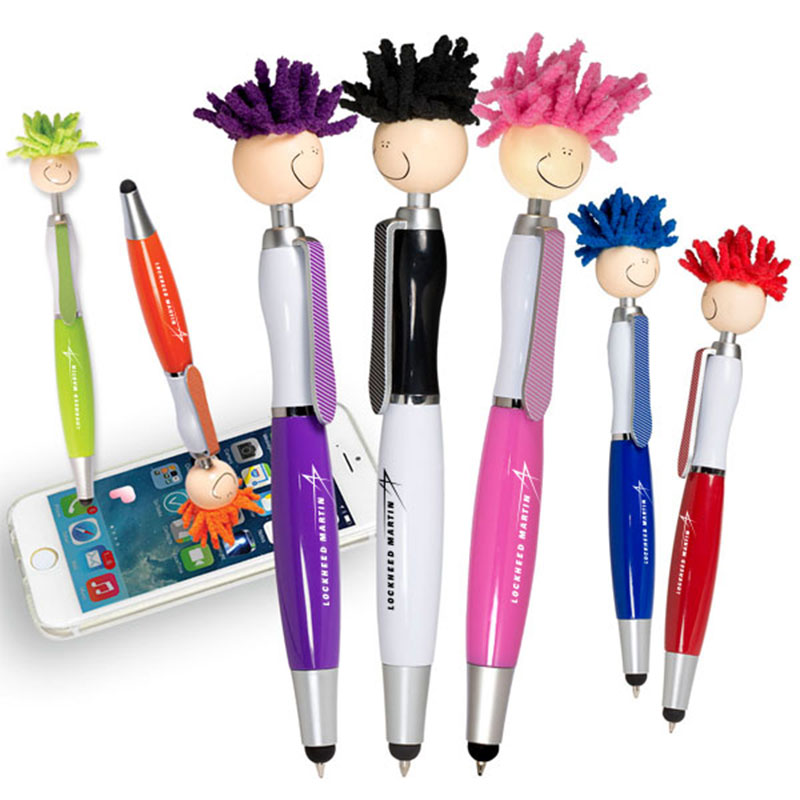Assorted Colors MopTopper Pen w/Screen Cleaner - LM Logo