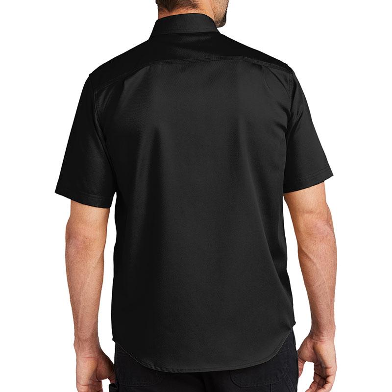 Carhartt Rugged Professional Series Short Sleeve Shirt - Black Model Back