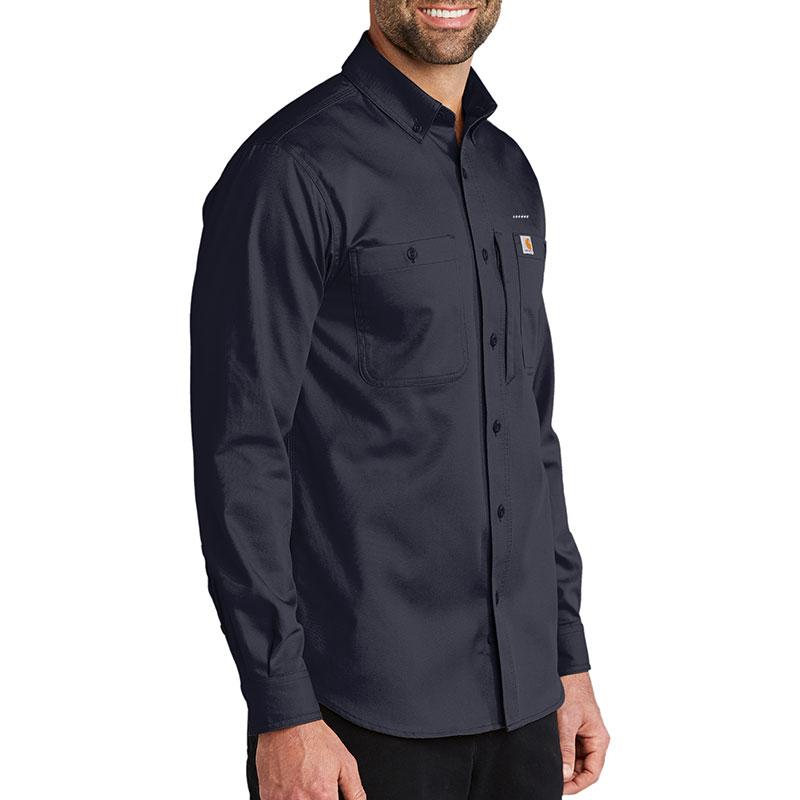 Carhartt Rugged Professional Series Long Sleeve Shirt - Navy Model Side