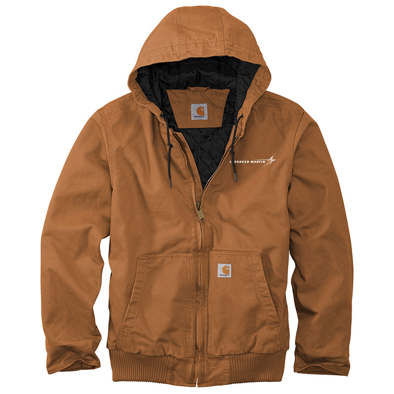 Carhartt Washed Duck Active Jacket - Brown Front