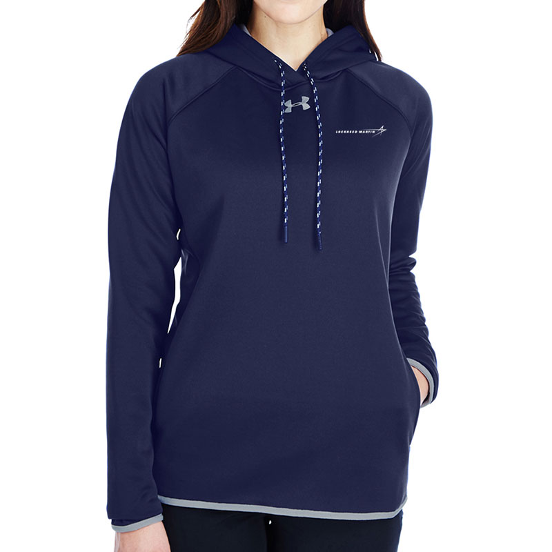 Under Armour Ladies' Armour Fleece Hoodie - Midnight Navy Front