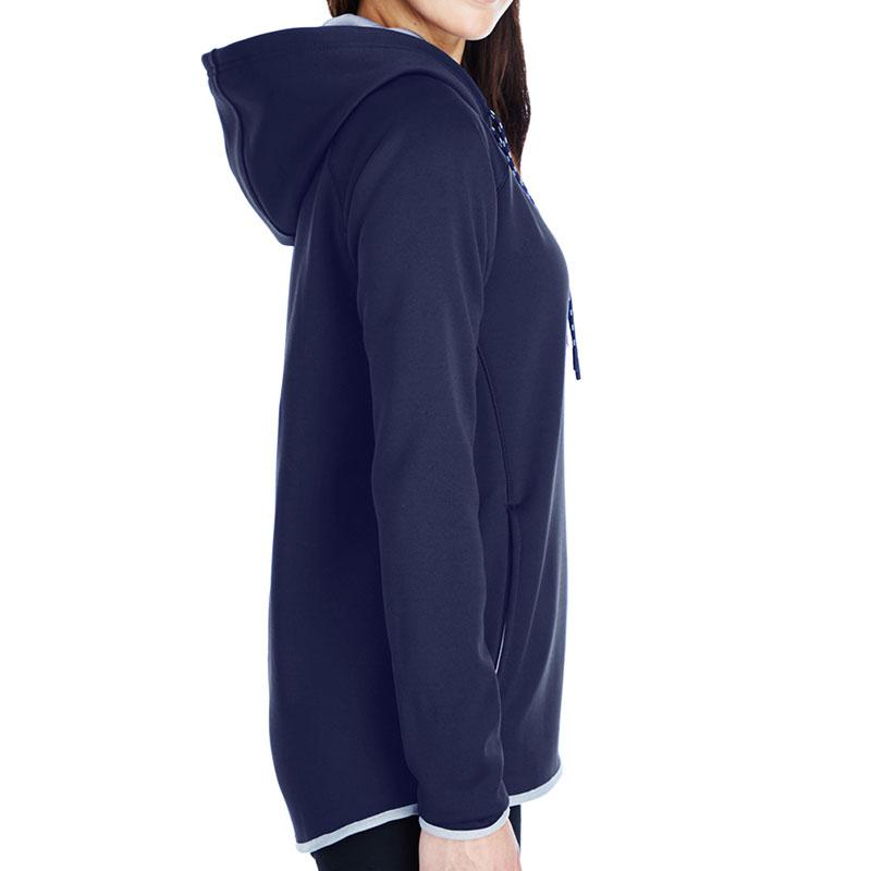 Under Armour Ladies' Armour Fleece Hoodie - Midnight Navy Side