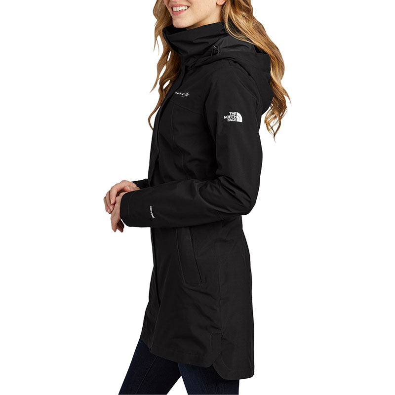 North-Face-Ladies-City-Parka-Front-Quarter-Model-2