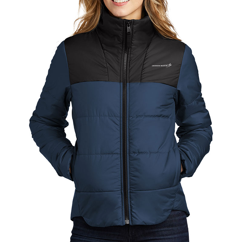 North-Face-Ladies'-Everyday-Insulated-Jacket-Blue-Front-Model