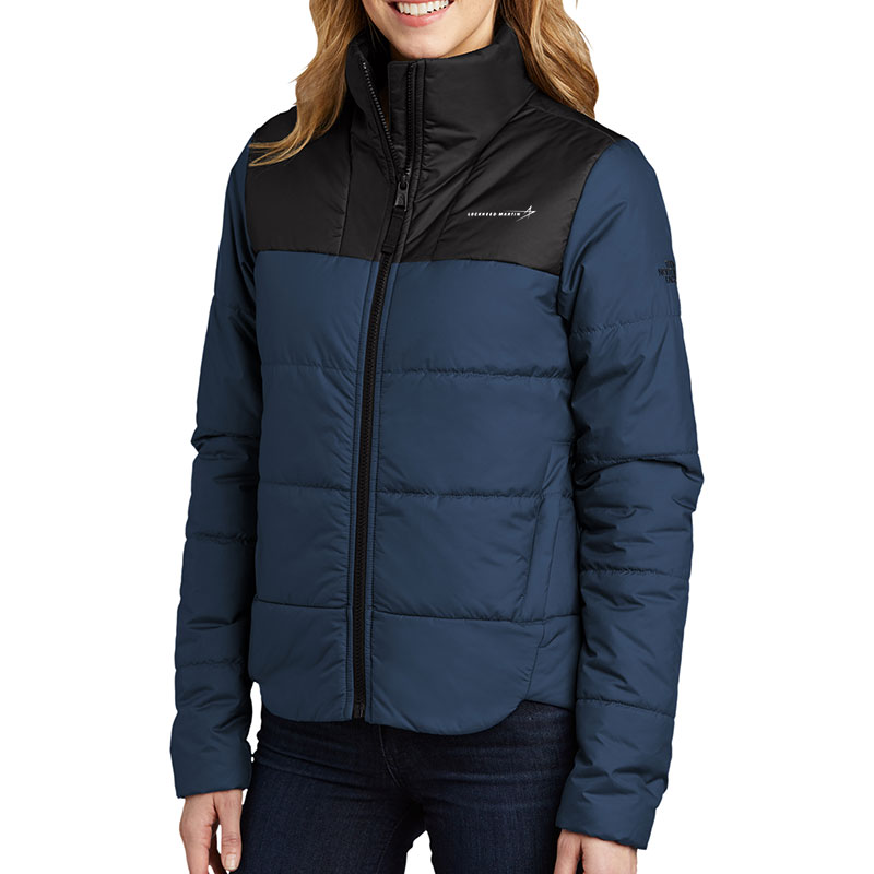 North-Face-Ladies'-Everyday-Insulated-Jacket-Blue-Front-Quarter-Model