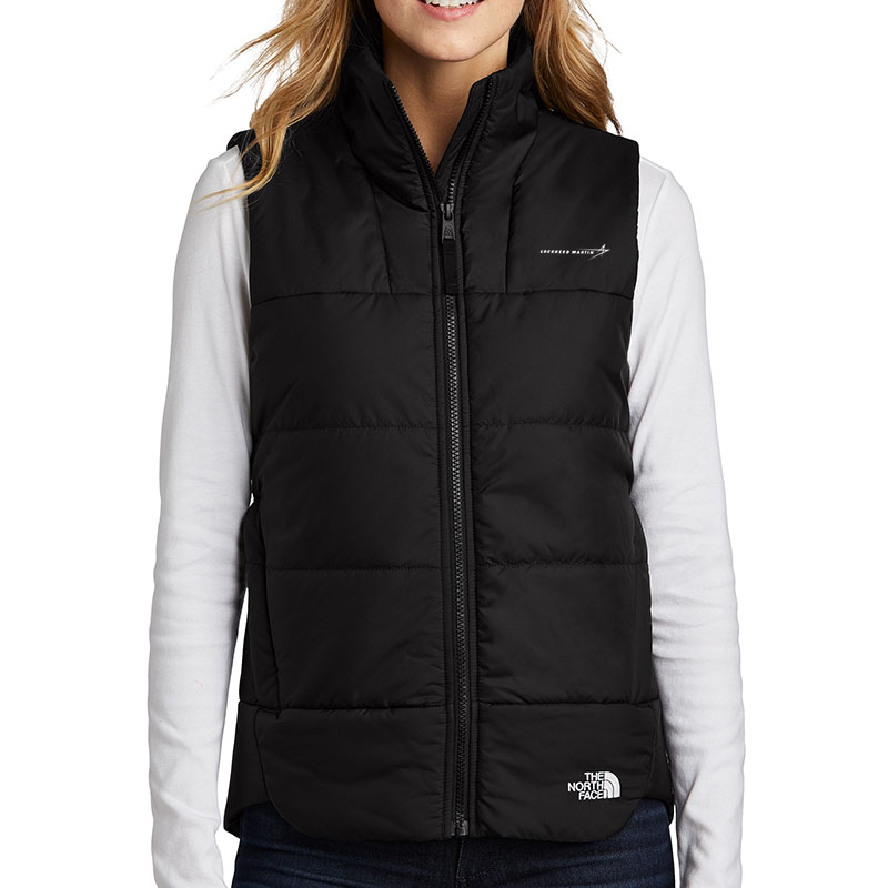 North-Face-Ladies-Everyday-Vest-Black-Front-Model