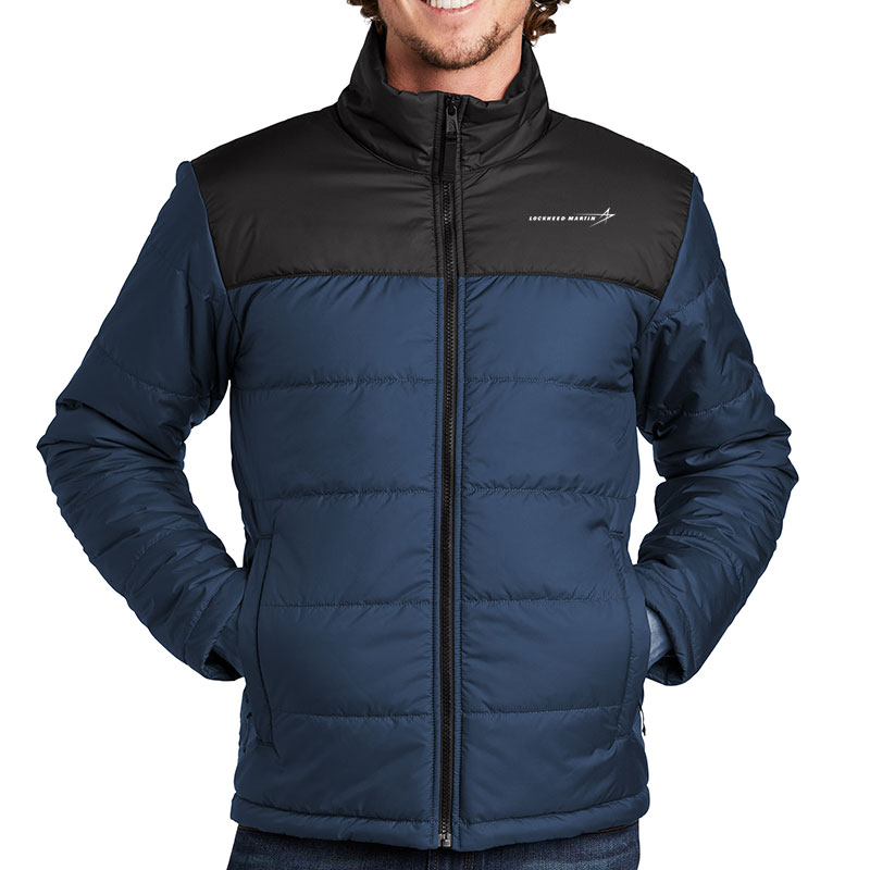 North-Face-Men's-Everyday-Insulated-Jacket-Blue-Front-Model