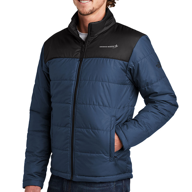 North-Face-Men's-Everyday-Insulated-Jacket-Blue-Front-Quarter-Model