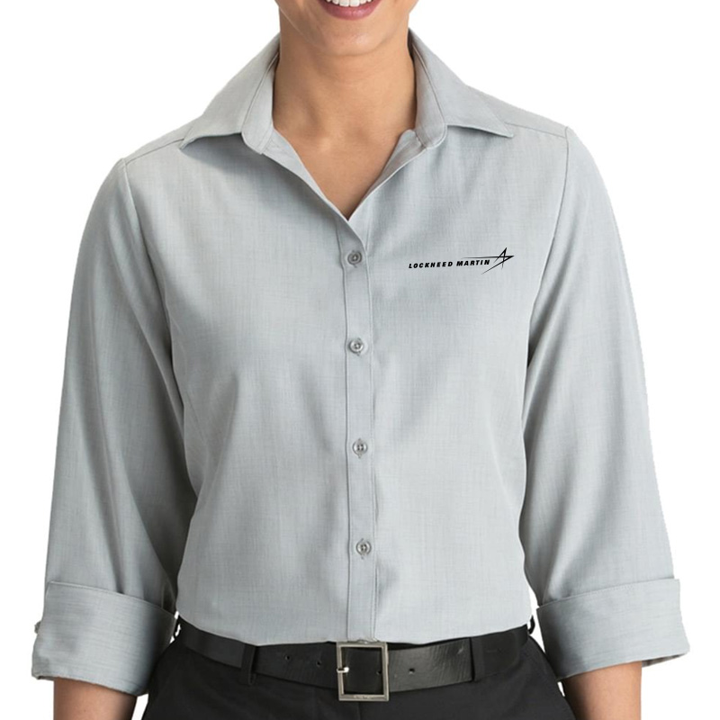 Ladies' Batiste Dress Shirt - Platinum