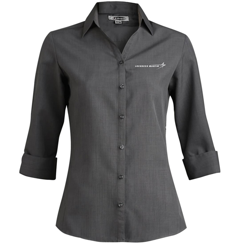 Ladies' Batiste Dress Shirt - Steel Grey