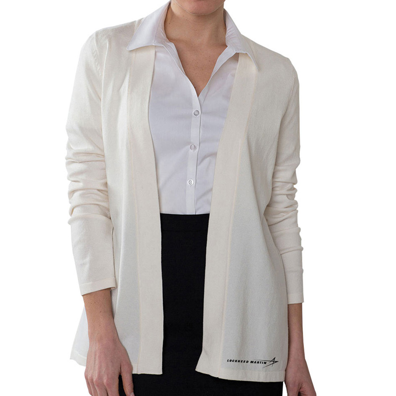 Ladies' Cardigan Sweater - Cream