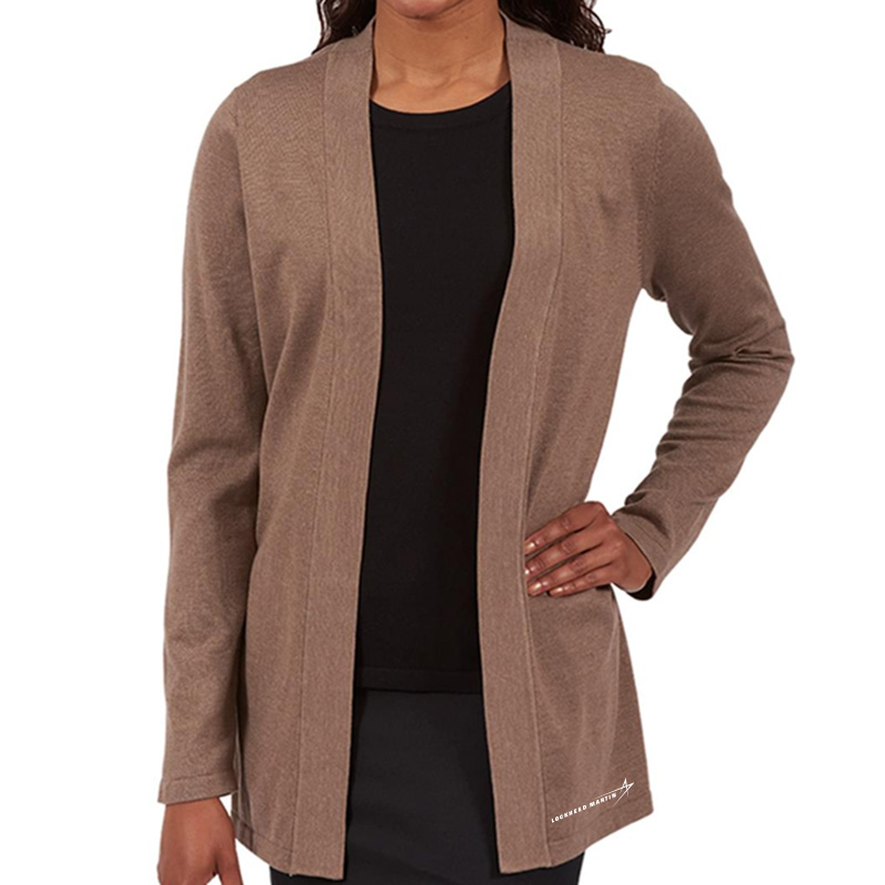 Ladies' Cardigan Sweater - Mocha Heather